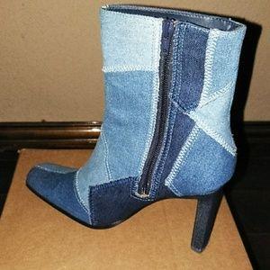 Jolie Victoria Shoes - Denim Boots